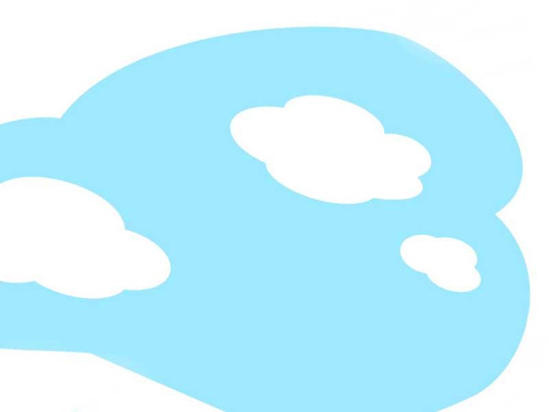 青空を描いた子供の絵