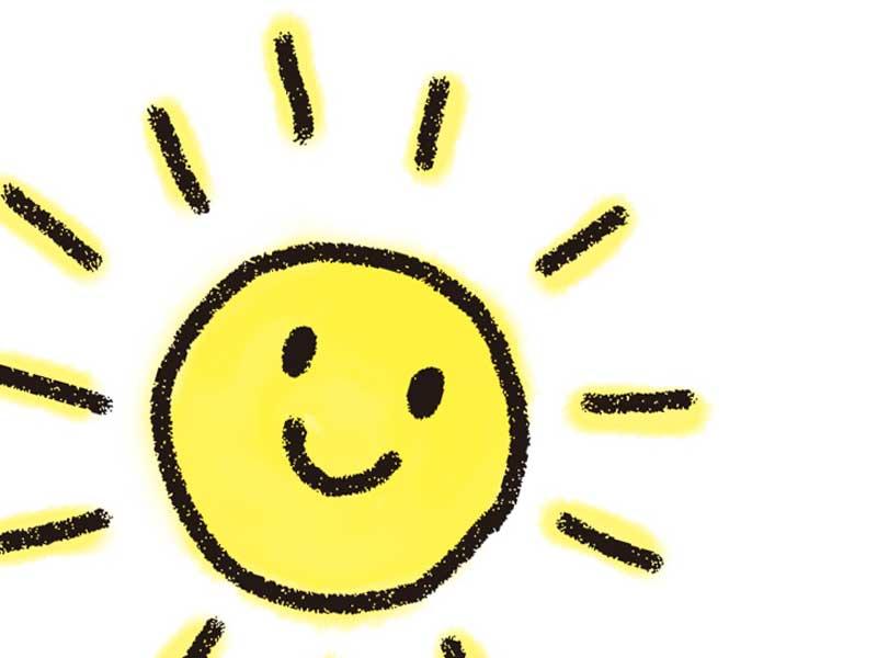 太陽を描いた子供の絵