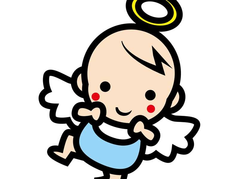 天使の赤ちゃんのイラスト