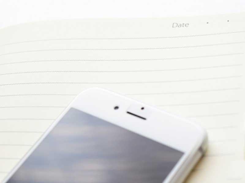 携帯電話と家計簿