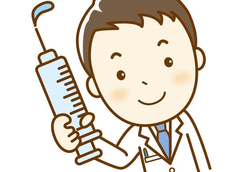 インフルエンザの予防接種のイラスト