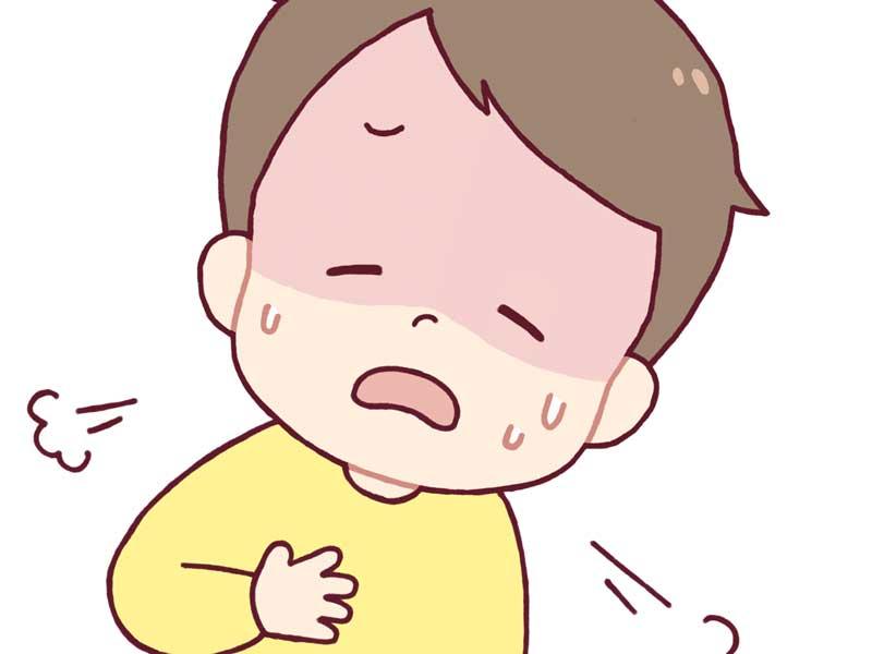咳をする子供のイラスト