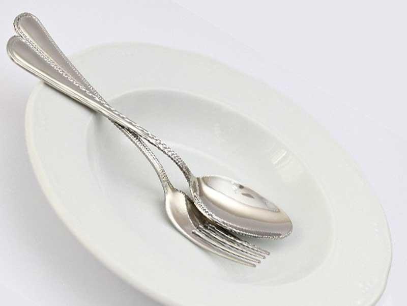 食後の皿と食器