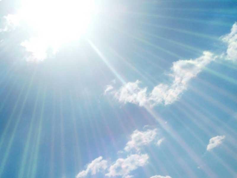 紫外線が強い室外