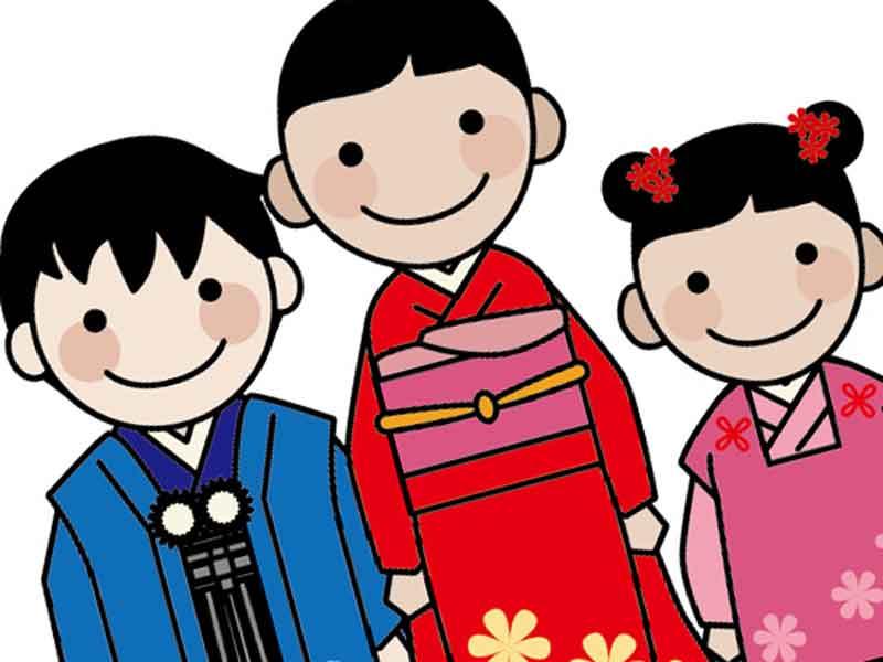 子供三人のイラスト