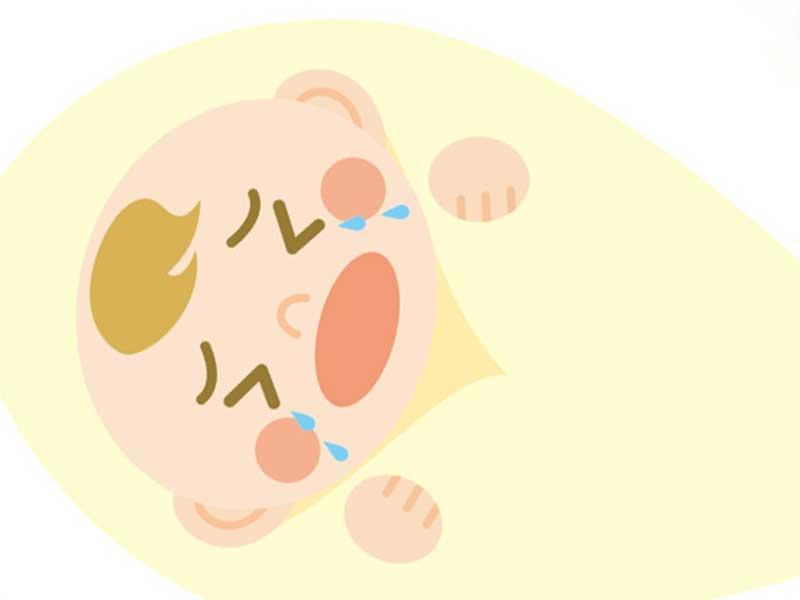 嫌がる赤ちゃんのイラスト