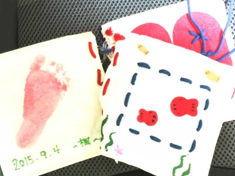 出産記念の手作り布絵本