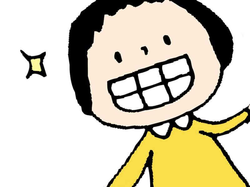 歯が丈夫な子供のイラスト