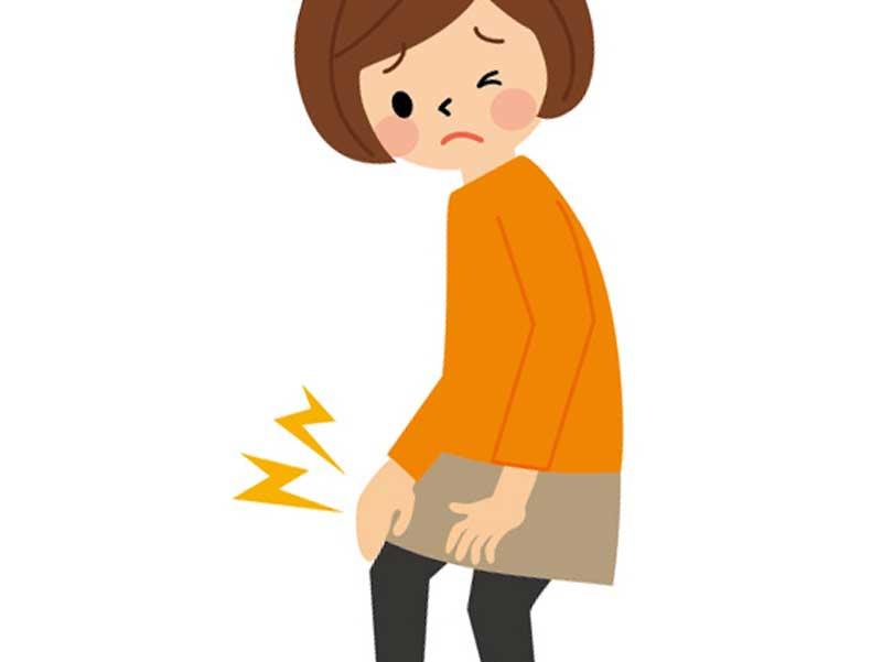 関節痛の女性のイラスト