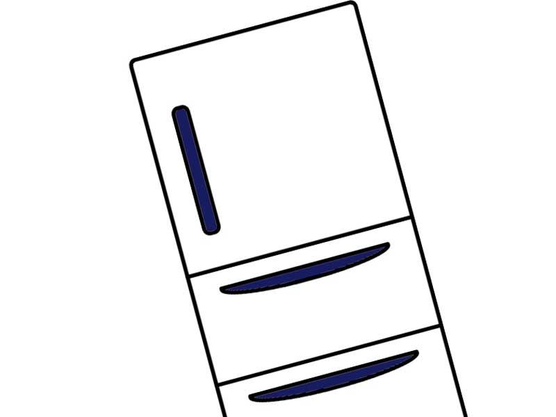 家の冷蔵庫のイラスト