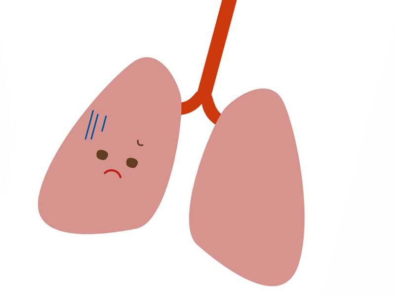 苦しい肺のイラスト