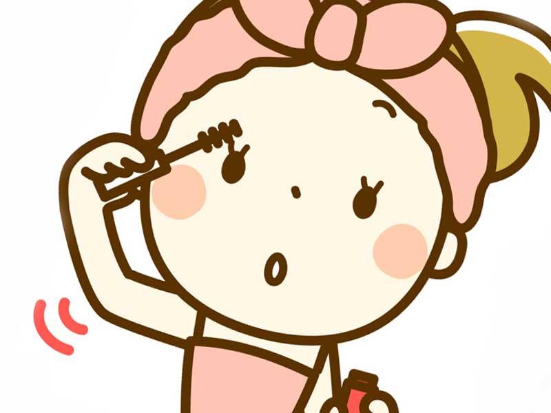 化粧をしている女性のイラスト
