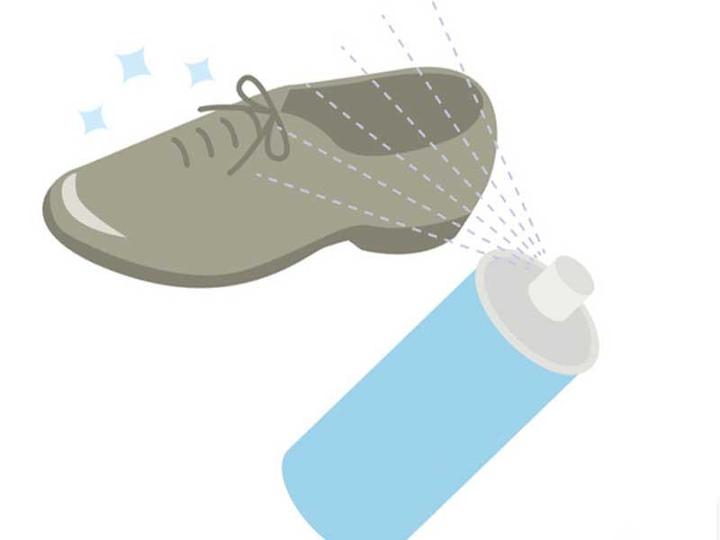 靴と消臭スプレーのイラスト