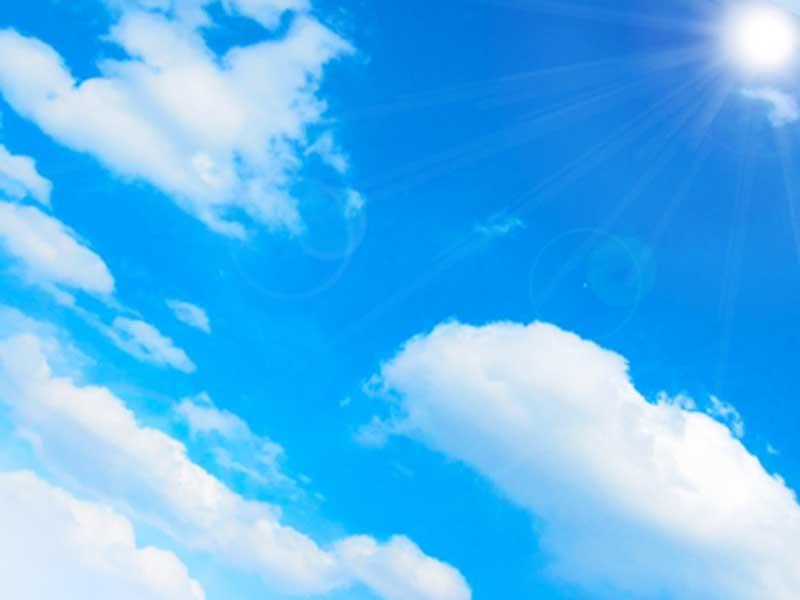 天日干しに向いてるいい天気の空