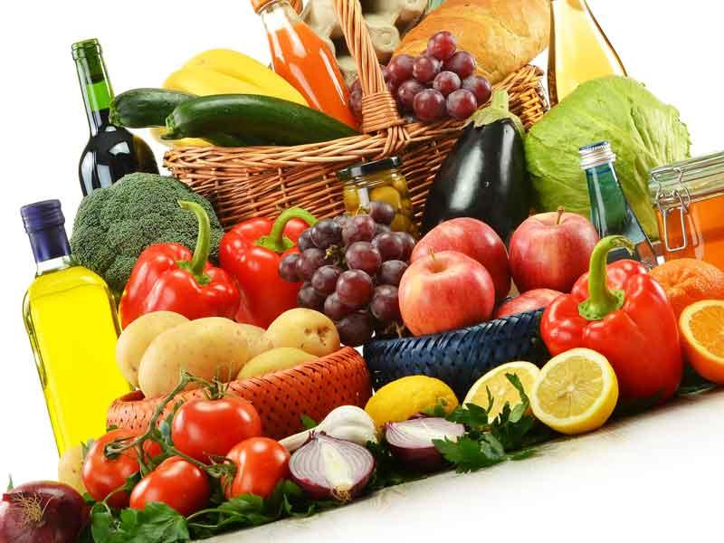 各種類の食べ物