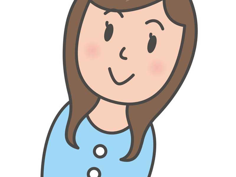 微笑みの女性のイラスト