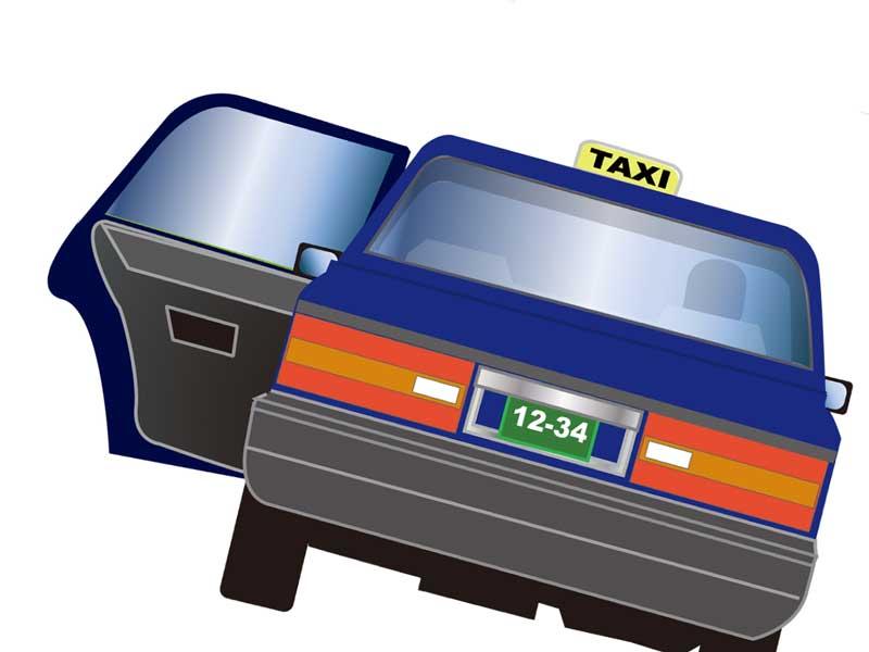 陣痛タクシーのイラスト