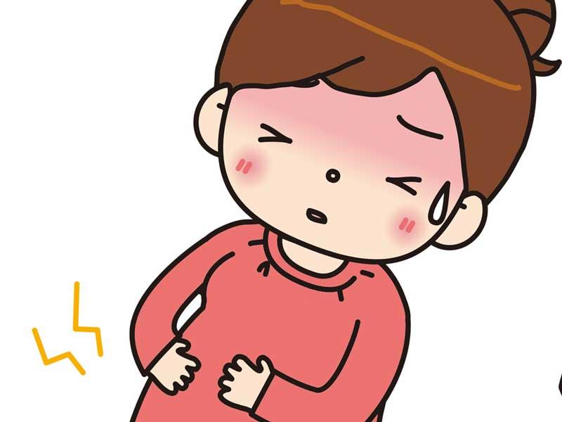 陣痛する妊婦のイラスト