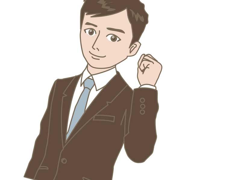 スーツを着ている清潔な男性のイラスト