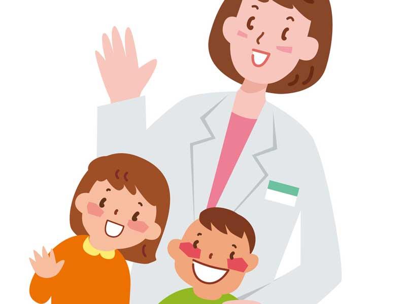 医師と子供のイラスト