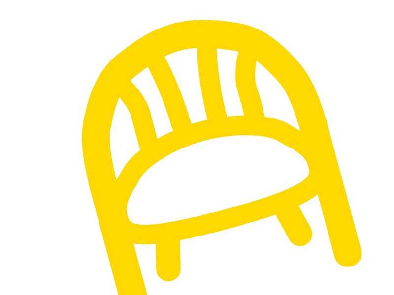 子供用椅子のイラスト