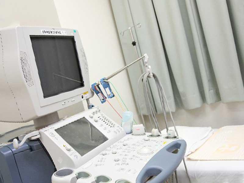 超音波検査の機械