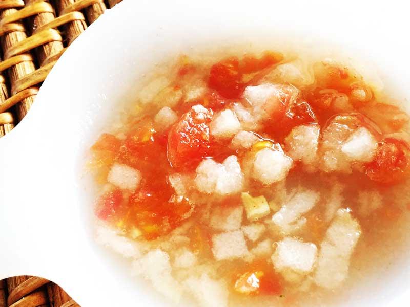 麩とトマトの洋風スープ