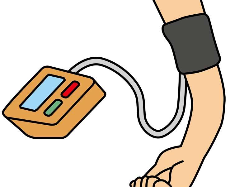血圧を計る子供のイラスト