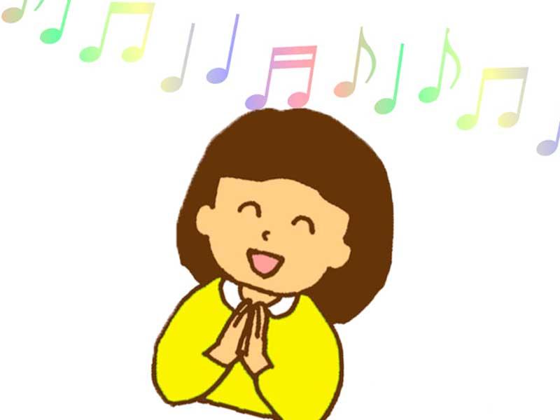 音楽に合わせて手拍子する子どものイラスト