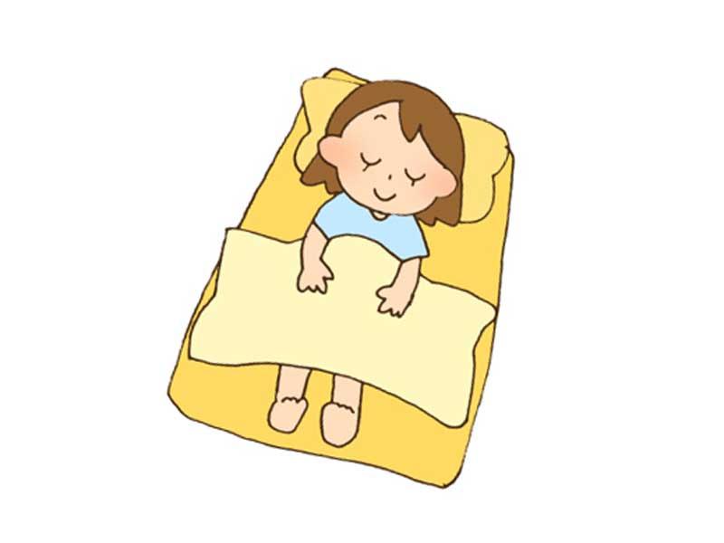 寝ている女の子のイラスト