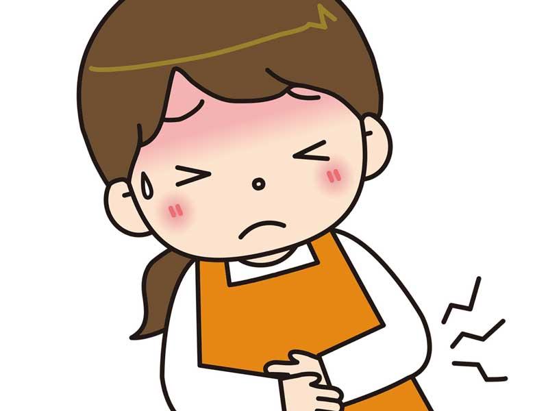 陣痛が始まった妊婦さんのイラスト