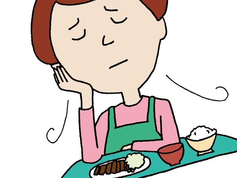 食欲がない女性のイラスト
