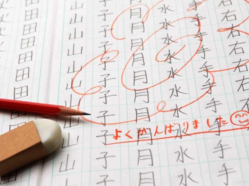 小学校のテストの成績の花丸
