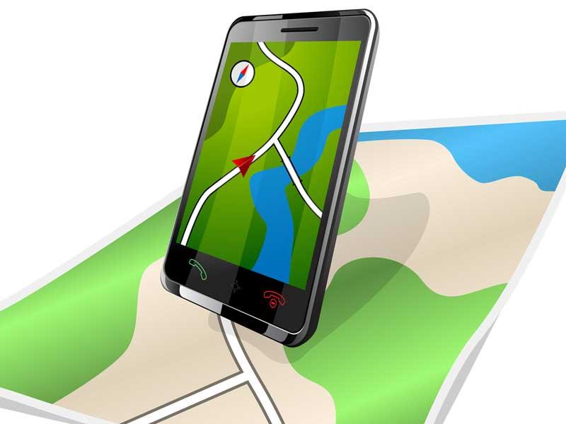 スマートフォンの位置情報サービス