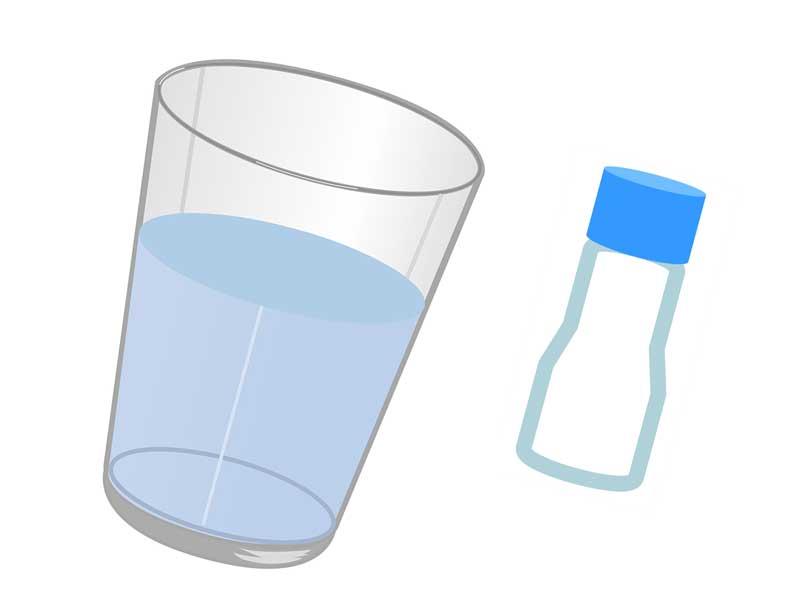 食塩と食塩水のイラスト
