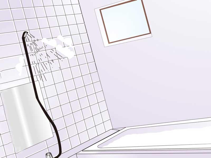 バスルームのイラスト