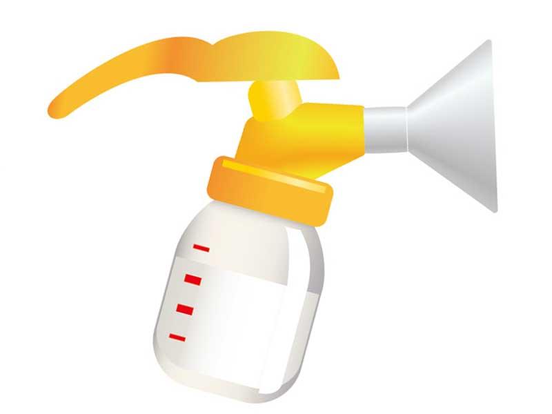 手動搾乳器のイラスト