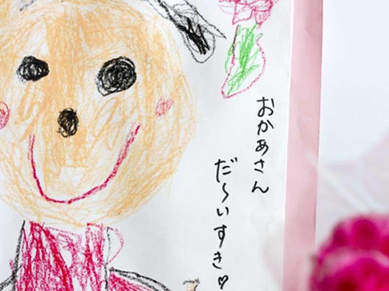 子供が描いたママの似顔
