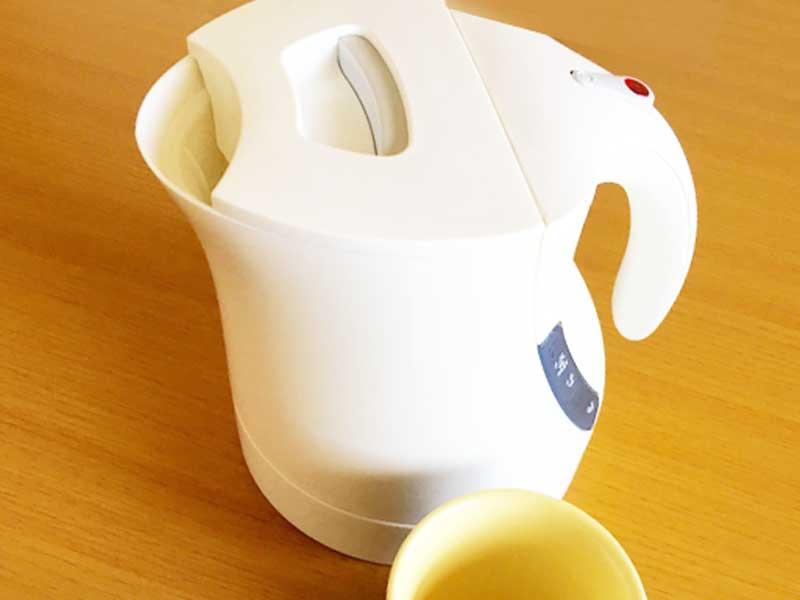 お湯を沸かす電気ポット