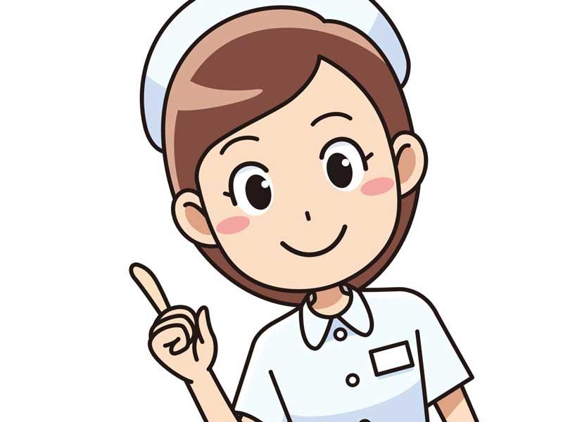 病院の看護婦のイラスト