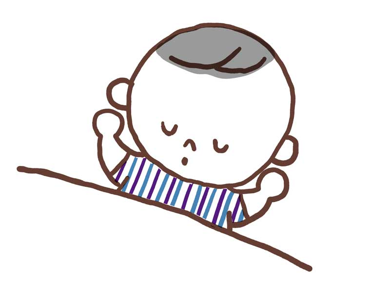 お昼寝をしている子供のイラスト
