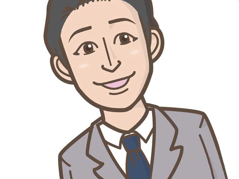スーツ姿のイケメン男性のイラスト