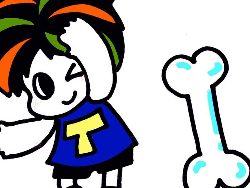 健康な骨を持つ子供のイラスト