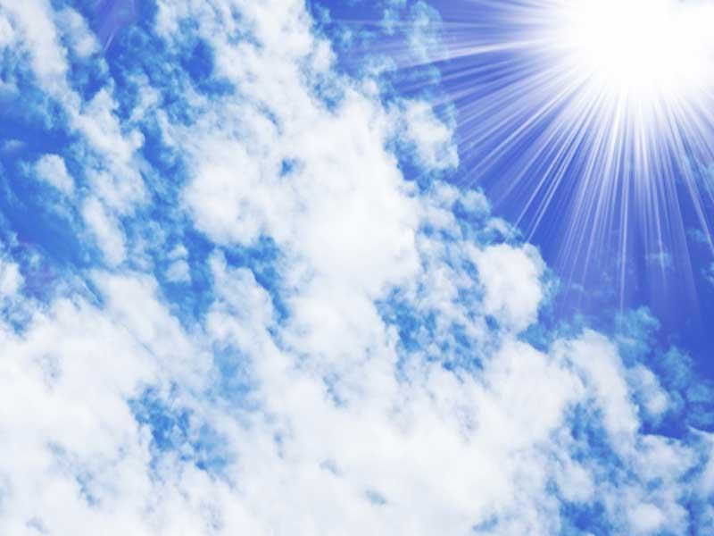 紫外線が強い日差し