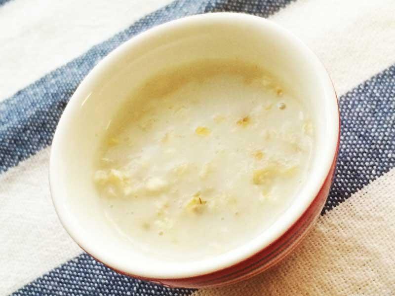 オートミールミルク粥