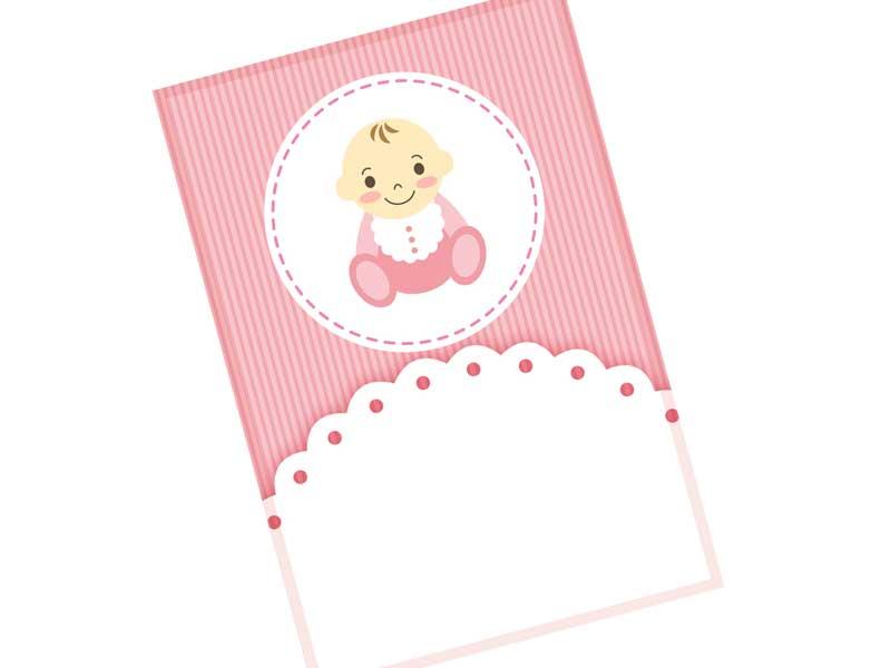 赤ちゃんの写真を使った年賀状のイラスト