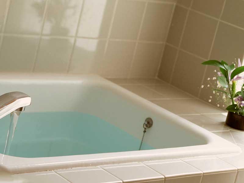 お湯が入っているお風呂