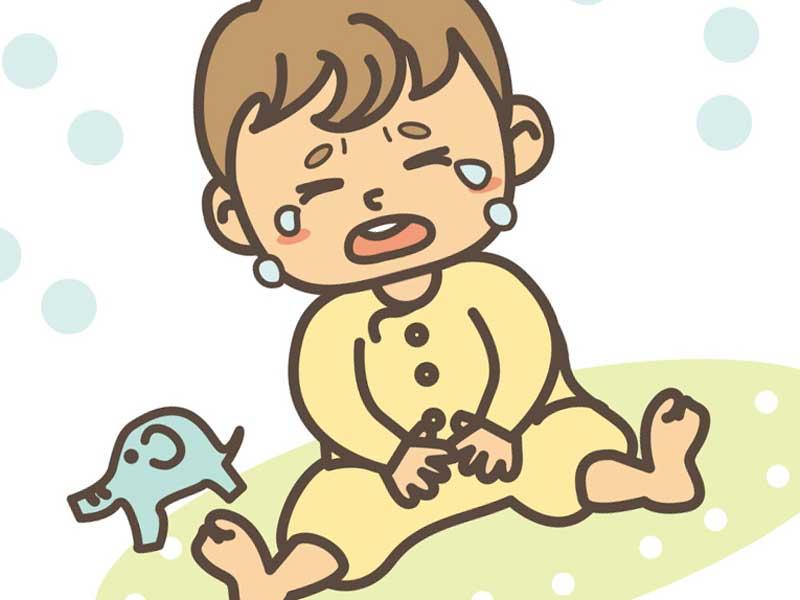 大泣きする子供のイラスト