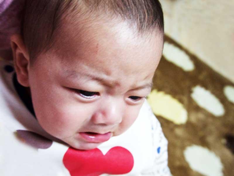 泣き止んだ赤ちゃん