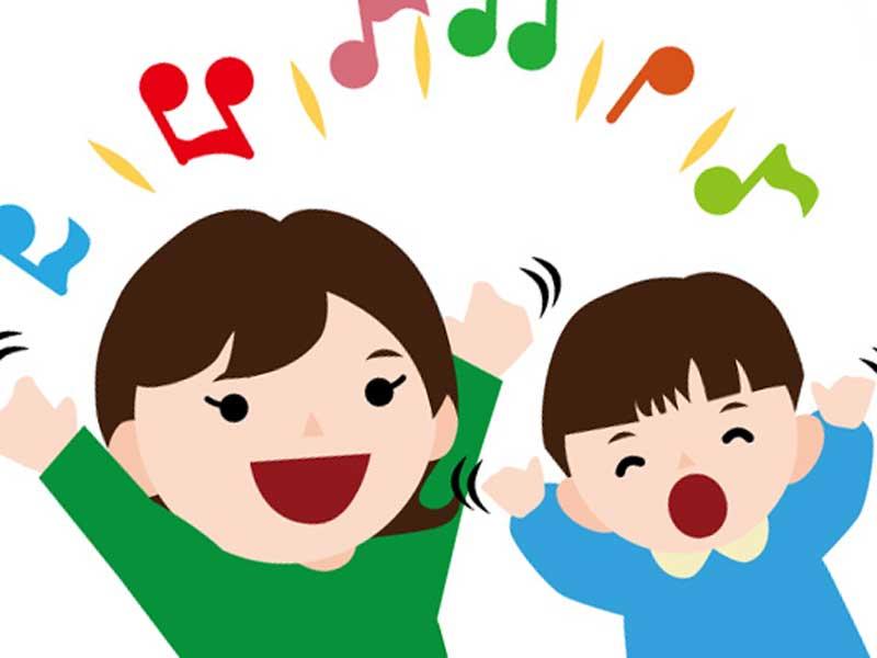 歌う家族のイラスト